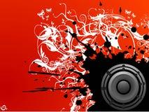 Grungy muziek Royalty-vrije Stock Afbeeldingen