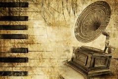 Grungy muzikale achtergrond vector illustratie