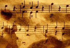Grungy muzikale achtergrond Stock Afbeelding