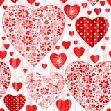 Grungy naadloos valentijnskaartpatroon vector illustratie