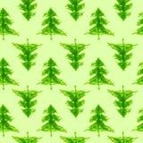 Grungy naadloze patroon van de chrismasboom Stock Foto