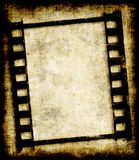 Grungy negatieve filmstrook of foto Stock Foto