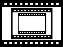 grungy negative film, picture frame Royalty Free Stock Images