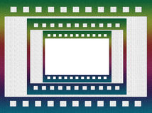 Grungy negative film, picture frame Stock Photo