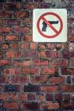 Grungy No Guns Sign stock photo