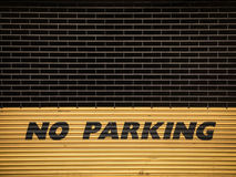 Grungy No Parking Sign Stock Image