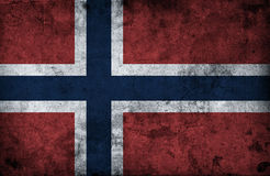 Grungy Norway Flag. Cracked wall Royalty Free Stock Photo