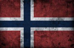 Grungy Norwegen-Flagge vektor abbildung