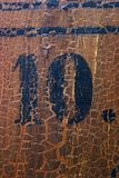 Grungy number 10 Royalty Free Stock Photo