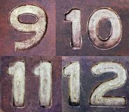 Grungy Numbers 3 Stock Image
