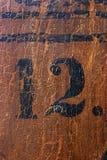 grungy nummer 12 Fotografering för Bildbyråer