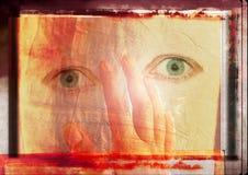 Grungy ogen royalty-vrije illustratie