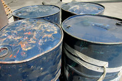 Grungy oil drum Royalty Free Stock Photography