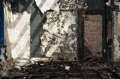 Grungy old building after a fire Stock Photo