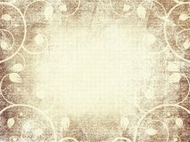 Grungy old floral frame design paper. Grunge old paper floral frame design with space for your text or photo Royalty Free Stock Image