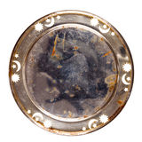 Grungy old metal table coaster Stock Photography