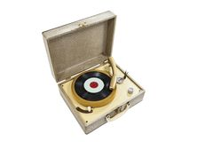 Grungy Old Record Player Royalty Free Stock Photography