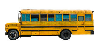 Grungy Old School Bus Royalty Free Stock Images