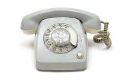 Grungy Old Telephone Stock Photography