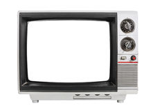 Grungy Old Television Isolated Royalty Free Stock Photo