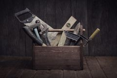 Grungy old tools stock image