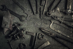 Grungy old tools stock images