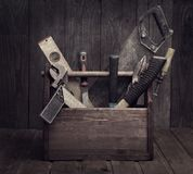 Grungy old tools royalty free stock photography