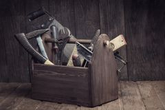 Grungy old tools royalty free stock images