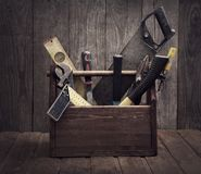 Grungy old tools royalty free stock photo