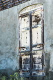 Grungy old window in abandoned building. In Christiansted St. Croix Royalty Free Stock Photos