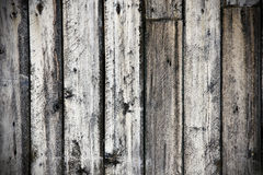 Grungy old wood background. Grungy dramatic old exterior rough wood plank, great background and texture Stock Photography