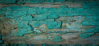 Grungy old wooden wall with peeling paint Royalty Free Stock Photography