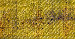 Grungy Old Yellow Metal Texture Stock Image