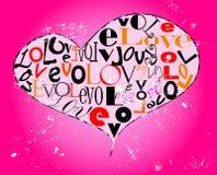 Grungy ontwerp van de liefde, stock illustratie