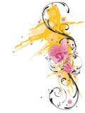 grungy orchids royaltyfri illustrationer