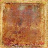Grungy Oud Roestig Document Als achtergrond en Textuur Stock Afbeeldingen