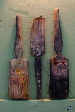 Grungy paint brushes Stock Photo