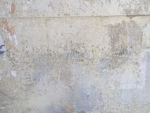 Grungy painted peeling wall industrial brick background Royalty Free Stock Image