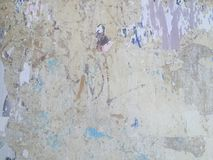 Grungy painted peeling wall industrial brick background Royalty Free Stock Photos