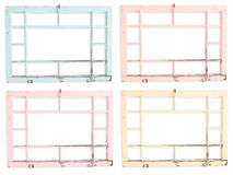 Grungy painted transom windows Royalty Free Stock Photos
