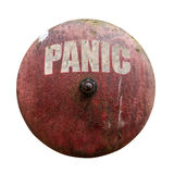 Grungy Panic Bell Stock Photography