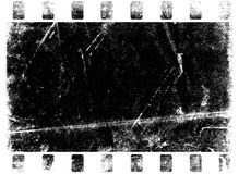 Grungy Paper (burnt). Grungy film frame black & White royalty free illustration