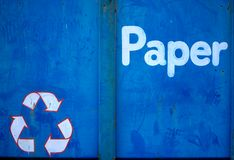 Grungy Paper Recycler Stock Photography