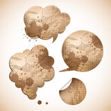 Grungy paper speak bubbles Stock Photos
