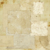 Grungy paper texture. A patchwork of grungy vintage brown paper for textural background royalty free stock photos