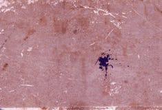 Grungy pappers- bokomslagyttersida med skrapor och fläckar Royaltyfri Bild