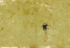 Grungy pappers- bokomslagyttersida med skrapor och fläckar Royaltyfri Fotografi
