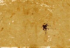 Grungy pappers- bokomslagyttersida med skrapor och fläckar Arkivbild