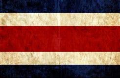 Grungy pappers- flagga av Costa Rica royaltyfri illustrationer