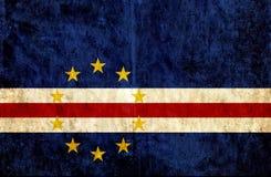 Grungy pappers- flagga av Kap Verde stock illustrationer